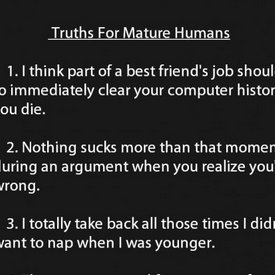 human truths funny