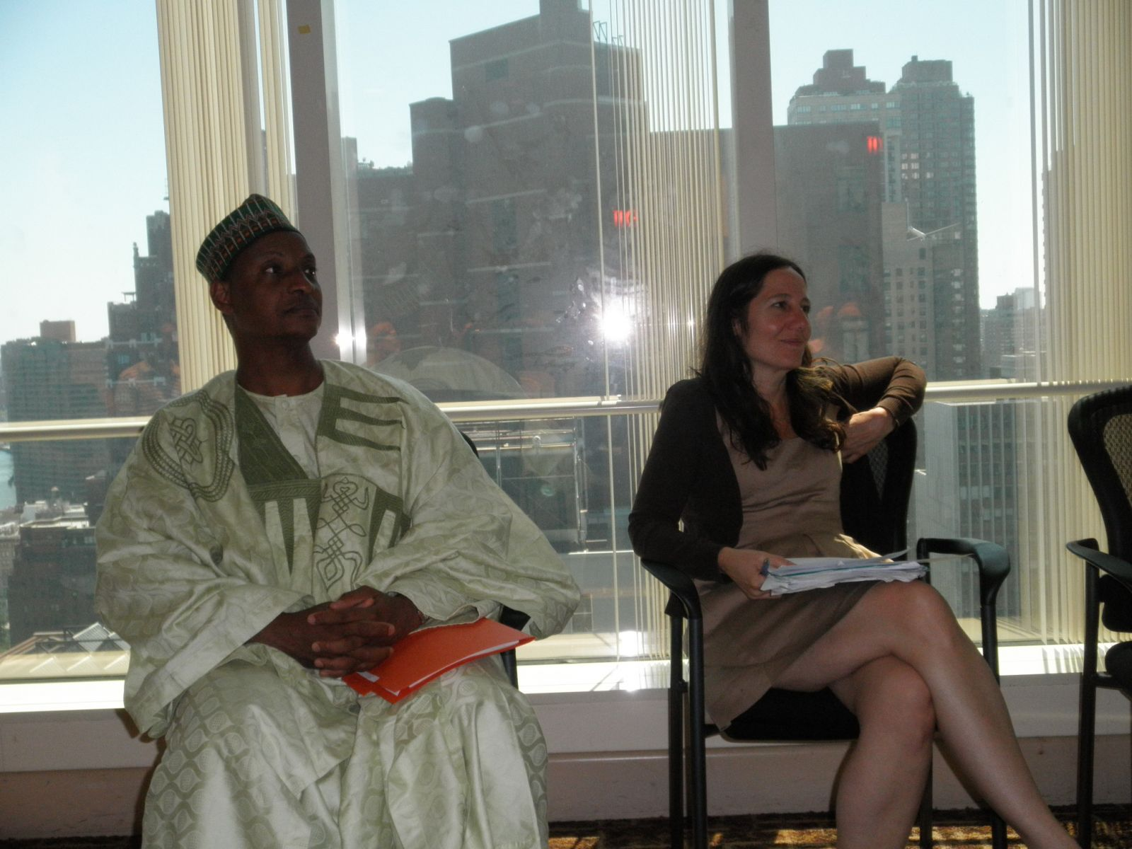Ambassador Sarki and Diane Williams