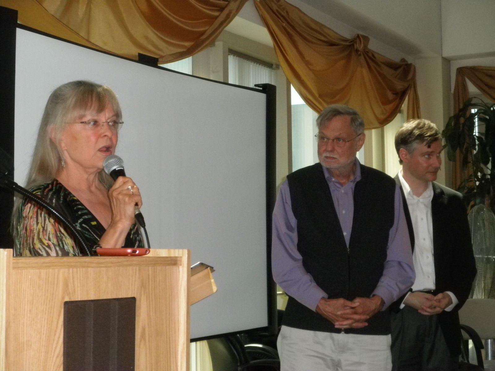 Lynnaea Lumbard, Duane Elgin, Jeff Vander Clute