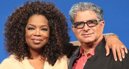 Oprah Winfrey and Deepak Chopra