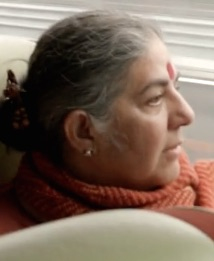Vandana Shiva on Train