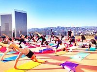 Outdoor Yoga in Los Angeles
