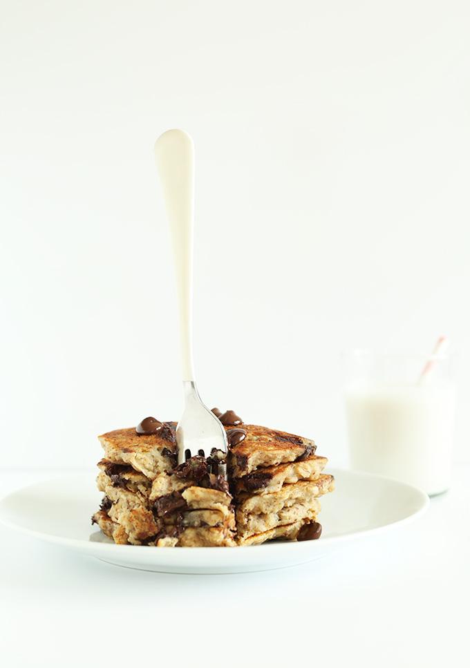 Vegan Oatmeal Choco Chip Pancake